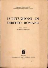 CESARE SANFILIPPO - ISTITUZIONI DI DIRITTO ROMANO - JOVENE 1955