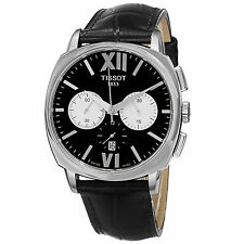 Tissot Men's T Lord Leather Strap Chronograph Automatic Watch T0595271605800