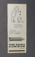 PUB PUBLICITE ANCIENNE ADVERT CLIPPING 140917  MOUTARDE EN TUBE SOUPLE ALUMINIUM