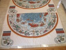 DAISY KINGDOM PRE QUILTED  NIGHT BEFORE CHRISTMAS TREE SKIRT PANEL TABLECLOTH