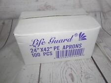 Life Guard 24x42 100 ct Disposable PE Aprons 1 mil thick