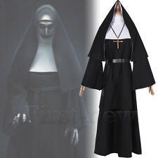 Women Nun Robes Dress For The Conjuring Scary Suit Cosplay The Nun Valak Costume