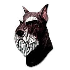 Schnauzer Head Plaque Figurine Black/Silver