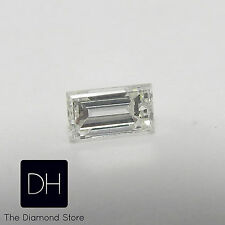 New 0.16 Ct. Loose Baguette Cut Natural Diamond G Color VS1 Clarity Side Accents