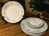 Christine Fine Porcelain China - Set of 4 Dinner & 4 Dessert/Bread Plates -Japan