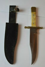"""Vintage Chipaway Cultery Fixed 7"""" Blade Knife  with leather case"""