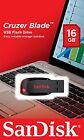 NEW Sandisk 16GB Cruzer Blade CZ50 USB 2.0 Flash Memory Stick Pen Drive UK Stock