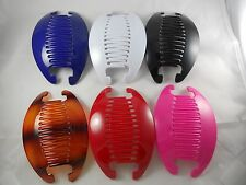 Lot of 6 set Jumbo Interlocking  Thick Hair Comb Banana Clip  choose color