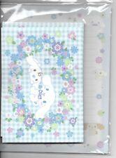 Sanrio Cinnamoroll Stationery Set Flowers and Blue Plaid