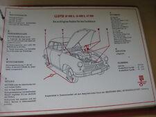 Shell Schmierplan / Wartungsdienst  -  Lloyd LP 400 S - LS 400 S - LT 500