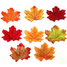 Decorative 200 Pcs Wedding Party Fall Autumn Artificial Silk DIY Colorful Leaves