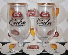 2 x STELLA ARTOIS CIDRE  PINT GLASS CHALICE NEW/UNUSED