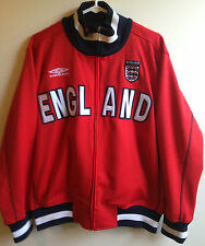 Women's Official Umbro Product Red Zip Front ENGLAND Jacket Size Small