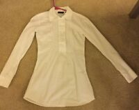 Women's New York & Company double breasted babydoll style blouse size XS