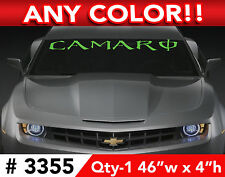 "CAMARO ENERGY FONT WINDSHIELD DECAL STICKER 46""w x4""h Any Color"