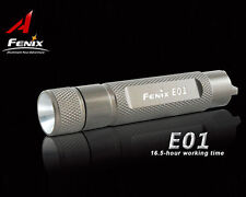Fenix E01 LED 13 Lumens Portable Mini Flashlight Waterproof AAA Torch Gray