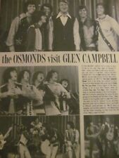 The Osmonds, Donny Osmond, Marie, Double Full Page Vintage Clipping