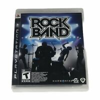 Rock Band (Sony PlayStation 3, 2007) Complete w/Manual