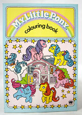 ULTRA RARE VINTAGE 1990 MY LITTLE PONY COLORING BOOK MLP HASBRO NEW NOS !