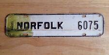 1959 NORFOLK, VA, VIRGINIA LICENSE PLATE TOPPER, CITY TAX, STEEL, VINTAGE