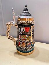 Old Vtg Zoiller & Born Handmade Beer Stein Made In Germany #1650 Duetschland
