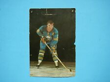 EARLY 1970`S NHL HOCKEY POSTCARD PHOTO TRACY PRATT BUFFALO SABRES AUTO AUTOGRAPH