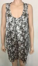 New!  LOUNGE THE LABEL silky snake print  tunic tank dress ~ suit 12  (G212))