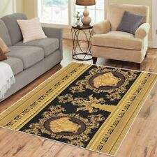Greek Pattern Area Rugs Medusa Retro Vintage 70s Carpet - 3 Sizes to Choose From