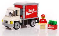 Brick Soda Delivery Truck w/ Minifigure Building Kit - B3 Customs