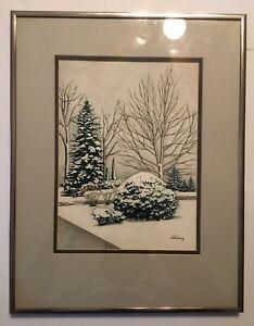 Original Winter landscape by Jim Hutchings