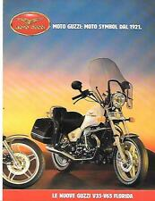 MOTO GUZZI V65 FLORIDA MOTOR BIKE SALES BROCHURE 1986 - 1987