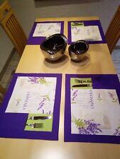 Patchwork Tischset mit Vlies gefüttert.35x46cm.   Farbe:  Lila  /   ohne Deko