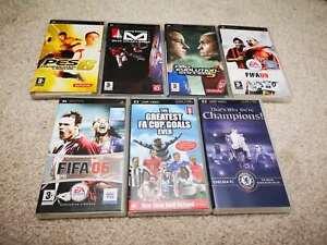 Sony PSP 2xUMD Movies and 5xUMD Games, Pro EvoLution Soccer 5 & 6 FIFA 06 & 09