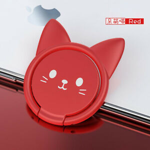 360° Rotating Cute Mini Cat Ring Stand Finger Grip Holder for Mobile Cell Phone