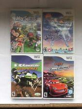 Wii Games My Sims Dora Snow Princess Kawasaki Quad Cars Race Orama Lot Of 4