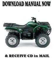 2004 Yamaha Grizzly YFM660 factory repair shop service manuals on CD