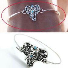 Vintage Gypsy Boho Ethnic Turquoise Elephant Totem Bracelet Cuff Bangle Women HG
