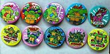 Teenage Mutant Hero Turtles Button Badges - Lot of 10 Button Badges from 1990