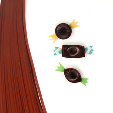 200 quilling self adhesive paper strips in choco brown  - 5mm  wide