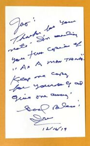 IRV CROSS Sportscaster Football Eagles & Rams SIGNED / AUTOGRAPH 3x5 Index Card