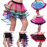 Rainbow Neon RaRa Rave Festival Dance Ruffle Tiered Tutu Skirt Clubwear