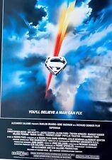 Vintage RARE! Superman 1 (1978) Movie Poster