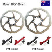 160mm/180mm Disc Brake 6 Bolts Rotor MTB Bike Post Mount Adapter Bicycle Caliper