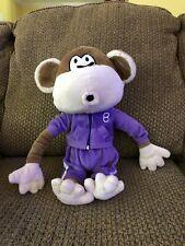Bobby Jack Monkey Stuffed Plush In Purple Sweatsuit