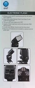Onn Electronic Flash for DSLR Cameras - Canon, Nikon, Sony - ONA18CA004