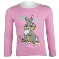 DISNEY t-shirt PANPAN Bambi Thumper 2 4 6 ou 8 ans rose haut NEUF
