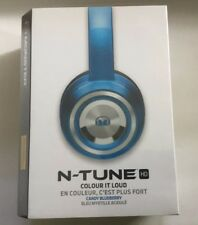 Monster N-TUNE Sealed On-Ear Headphones - w ControlTalk - Candy Blueberry - New