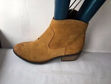 Clarks moonlit cool cognac ankle size 7 brown ladies womens  shoes boots low zip