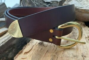 """1.5"""" Wide Brown Medieval Buckle Belt - Medieval SCA LARP Cosplay Faire Pirate"""
