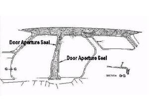 Ford Seal Door Aperture Laser Ka / Kb # RDS2012C